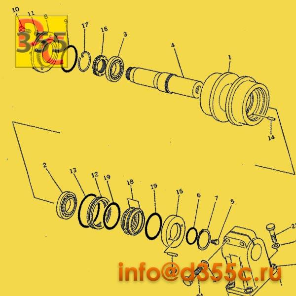Поддерживающие катки 195-30-00106 схема